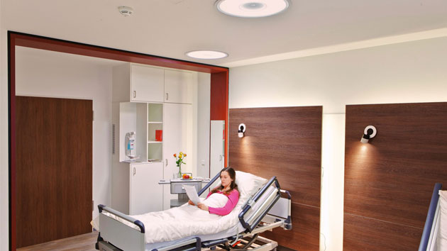 lighting for hospital patient rooms