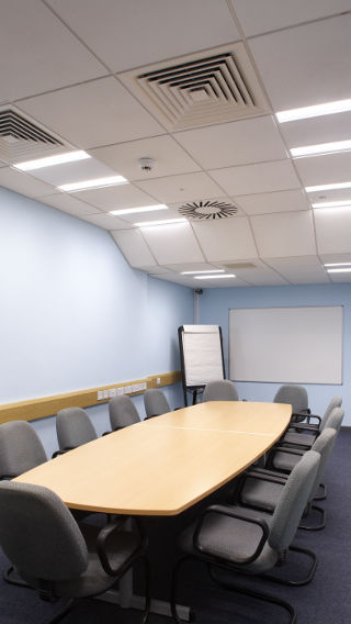 Philips Lighting illuminates the meeting room of Sedgemoor District Council, Somerset, UK