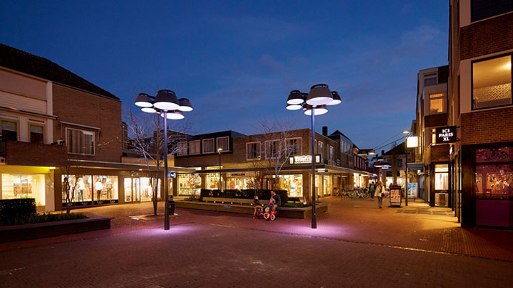 Public space lighting in Veghel, Netherlands