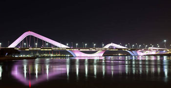 Philips Lighting dubai abu dhbai sheikh zayed bridge