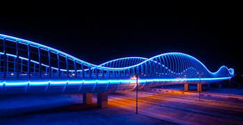 Meydan LED lighting Bridge Royal Bridge Dubai UAE Philips